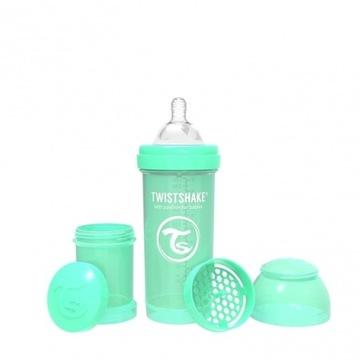 Butelka antykolkowa Twistshake 260ml -  zielony