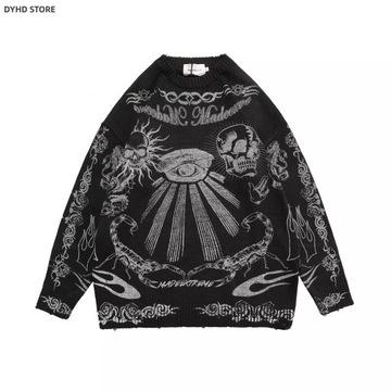 Sweter Harajuku Retro Vintage