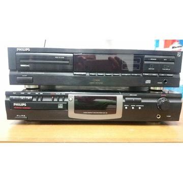 Odtwarzacz CD i nagrywarka CD.