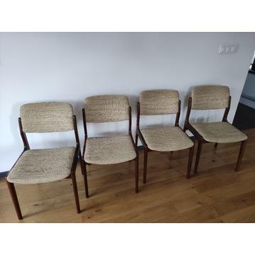 Krzesła tekowe Dania lata 60 –Styl skandynawski
