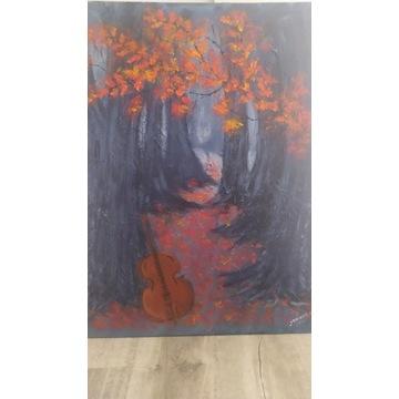 Obraz abstrakcja, Jesienny koncert, nowy