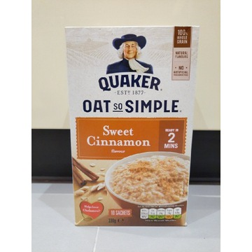 Owsianka Quaker Słodki cynamon 10x33g