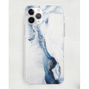 Case IPHONE XR niebiesko-biały marmur
