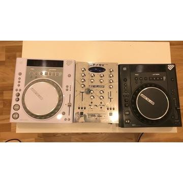 2x CD player Reloop RMP1, Mixer Reloop, zestaw DJ