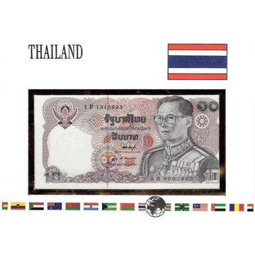 Koperta z banknotem Tajlandia