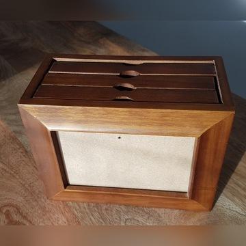 Ramka na zdjęcia 10x15 cm drewniana z albumem