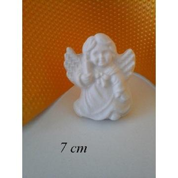 Aniołek figurka gipsowa podziękowania Komunia Św.