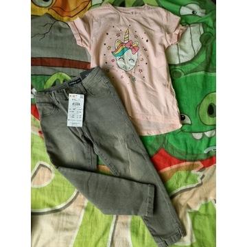 Jeans skinny Reserved 104-110 NOWE +gratis