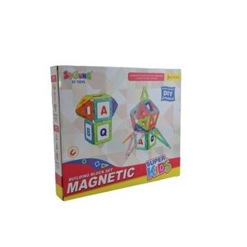 KLOCKI MAGNETYCZNE Konstrukcyjne Magnetic 3D 124el