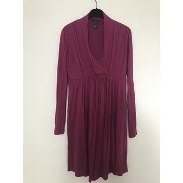 Sukienka ciążowa H&M MAMA roz.S bordowa