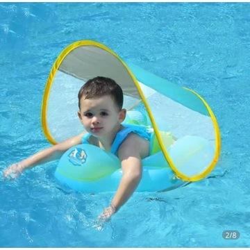 Pływak dla niemowląt z daszkiem - 3-12 miesięcy