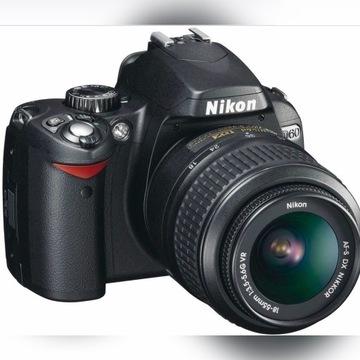 Nikon D60 + dwa obiektywy + plecak