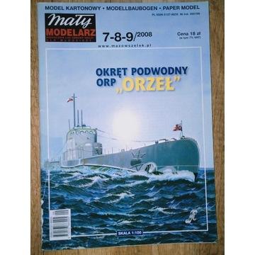 Okręt ORP Orzeł Mały Modelarz 2008/7-8-9 z uwagą