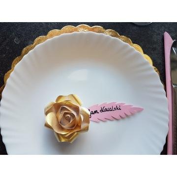 Róża papierowa winietki, dekoracje