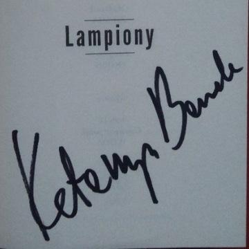 """Katarzyna Bonda """"Lampiony"""" z autografem"""