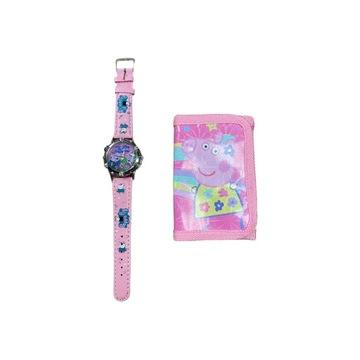 Komplet dla fanki Świnki Peppy Peppa Pig zegarek
