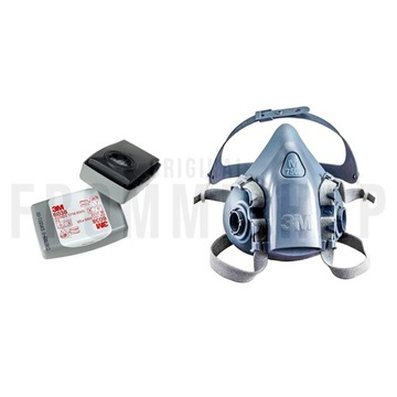 3M Maska 7502 + Filtropochłaniacze węglowe 6038 P3