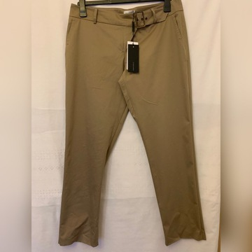 Spodnie casual Deni Cler, ozdobna klamra 42 NOWE
