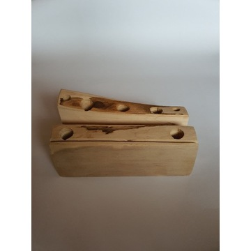 Przybornik drewniany organizer na biurko