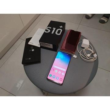 Samsung Galaxy S10+ (SM-G975F/DS) - biały + etui
