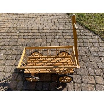 Wózek drewniany / kwietnik