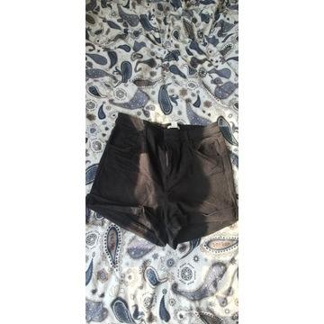 Czarne jeansowe szorty 42 h&m