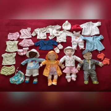 Lekkamrat Ikea zestaw 4 lalki i ubranka