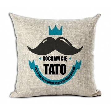 Poduszka len, dzień ojca - Kocham cię Tato