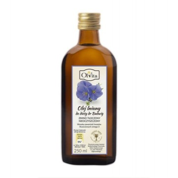 Olej lniany budwigowy 250ml Olvita