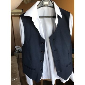 Komplet spodnie kamizelka koszula 134 W-wa