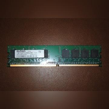 Pamięć RAM ELPIDA 1GB 1Rx8 PC2-6400U-666