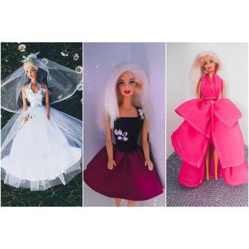 Zestaw taniej ubranka sukienki dla lalki