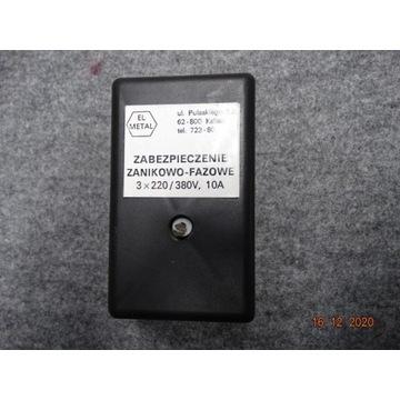 Zabezpieczenie Zanikowo-Fazowe 3 x 220/380 V, 10A