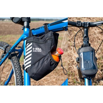 Torba rowerowa pod ramę + etui na smartfona