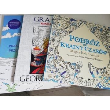 Zestaw 3 książek do kolorowania