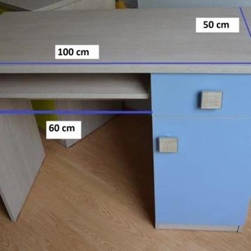 Biurko dla dziecka 100x50 Niebieskie i zielone
