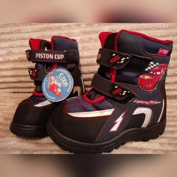 Buty zimowe dla chłopca Cars Auta roz 28,wkł. 15,5