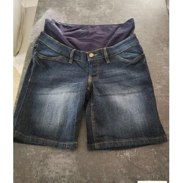 Spodenki ciążowe ciemne jeansy