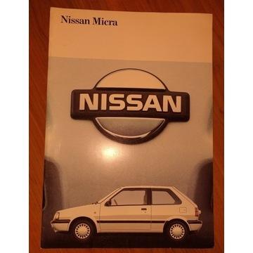Prospekt samochodowy 26 str NISSAN MICRA lata 90