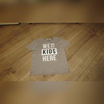Bluzka koszulka 110 h&m chłopiec