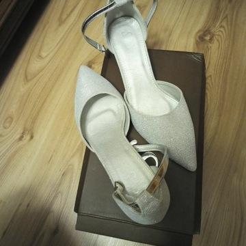 Sandałki ślubne nowe rozmiar 40