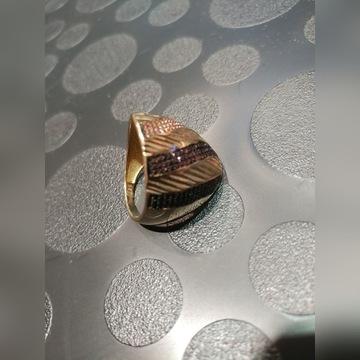 Pierścień Nowy Gold Celebrytka W Ch 585 New Extra