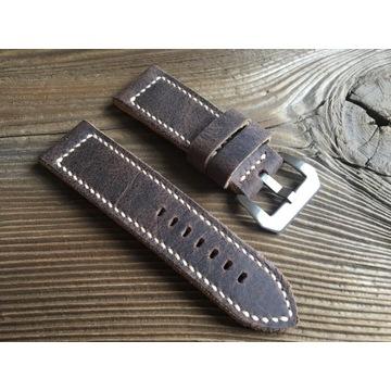 Pasek do zegarka ręcznie robiony skórzany 26 mm