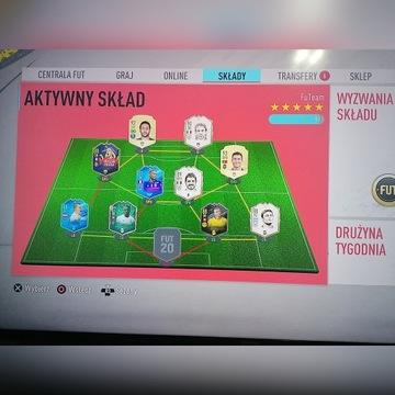 KONTO FIFA 20 PS4 CR7 NEYMAR WYMIENNI+GRY ZA1000ZŁ