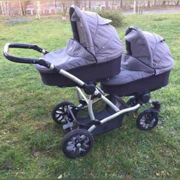 Wózek dziecięcy podwójny Bebetto 42 dla bliźniaków
