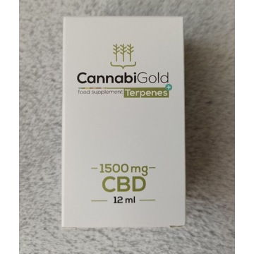 CANNABIGOLD Terpenes + 1500 mg CBD terpeny 12 ml