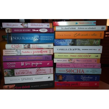 Zestaw 21 książek Literatura kobieca
