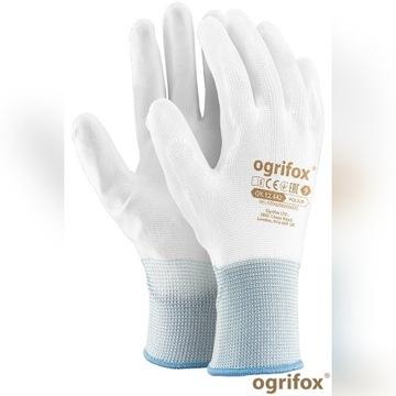240 par Rękawice robocze poliuretanowe białe r.10