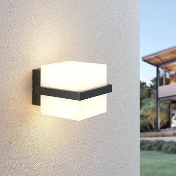 Kinkiet zewnętrzny LED Auron,  kostka LINDBY
