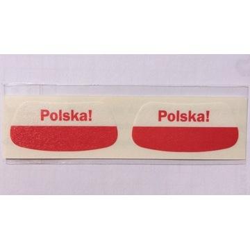 Gadżet kibica flaga Polska! Naklejki Na Twarz
